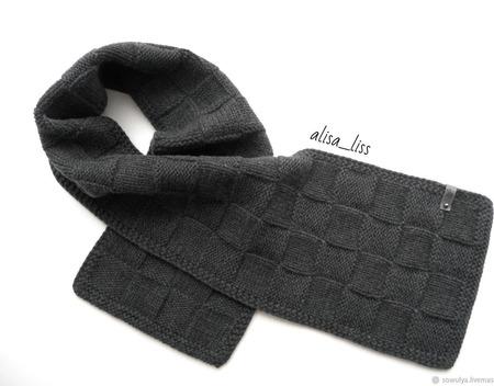 Вязаный шарф ручной работы на заказ