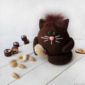 """Мягкий котик из флиса """"БрауниЧ"""" Кот домовой"""