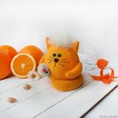 """Мягкий котик из флиса """"""""Апельсиныч"""""""