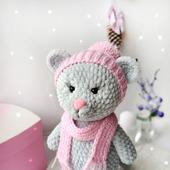 Мышонок в розовой шапочке. Новогодняя  игрушка