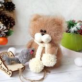 Котик с саночками:) Интерьерная игрушка.