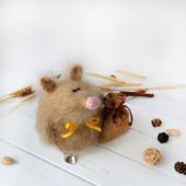 """Мягкая игрушка """"Запасливая мышка"""" Интерьерная игрушка"""