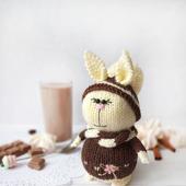 Вязаная  зайка . ШоколадКа . Амигуруми