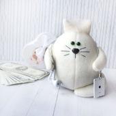 "Котик  ""Айкотик"" Интерьерная игрушка, сувенир"