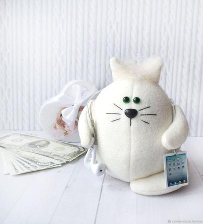 """Котик  """"Айкотик"""" ручной работы на заказ"""