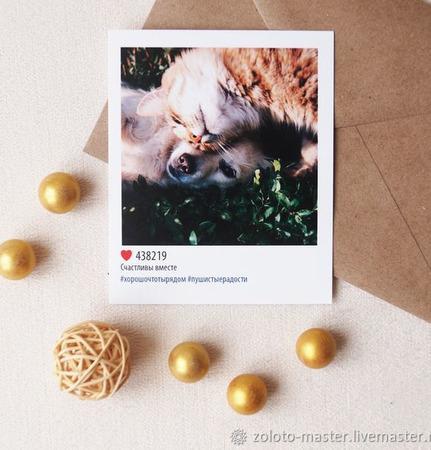 Открытка Instagram ручной работы на заказ