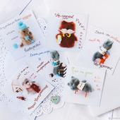 Набор авторских открыток. 6 штук.  арт. 001