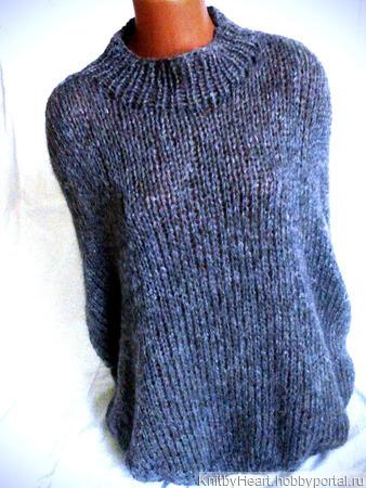 Модный свитер оверсайз из мохера ручной работы на заказ