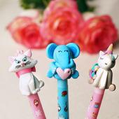 Перьевые ручки с декором. Полимерная глина.Комплект