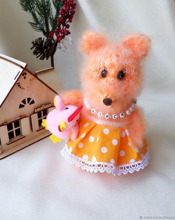 Интерьерная игрушка Лиса-краса ручной работы на заказ