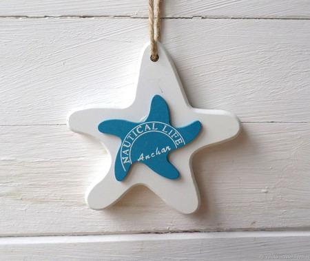 """Декор в морском стиле """"Звезда"""" ручной работы на заказ"""