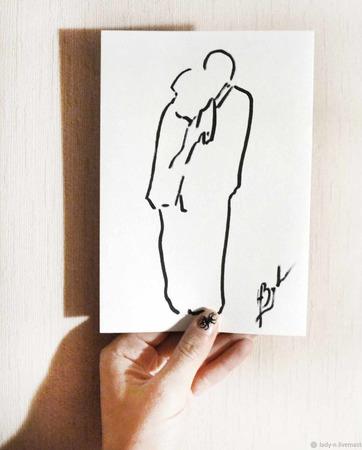 """Картина """"Влюбленные"""" ручной работы на заказ"""