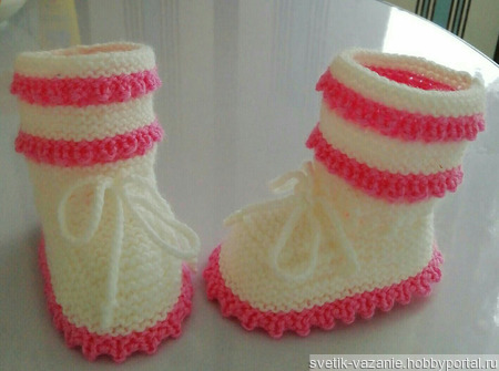 Пинетки для девочки ручной работы на заказ