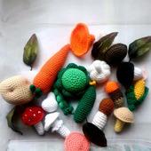 Набор вязаных овощей и грибов Дары Осени