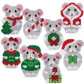 """Схемы для вышивки """"Рождественские мышки"""""""