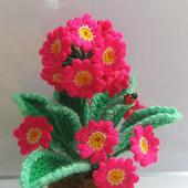 """Вязаные цветы """"Примула"""""""