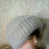 Шапочка Таккори, вязаная женская, шапка из мохера