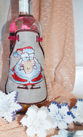Фартук на бутылку ручной работы на заказ