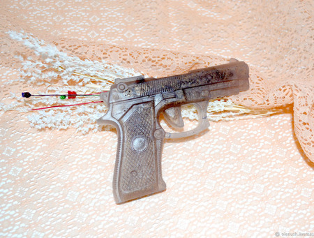 """Мыло """"Пистолет"""" ручной работы на заказ"""