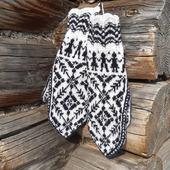 Варежки норвежские с ажурной резинкой