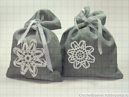 Новогодний мешочек для подарков ручной работы на заказ