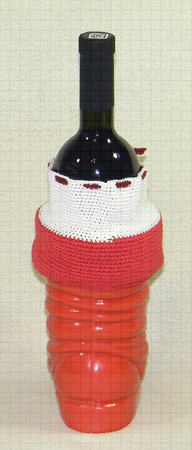 Декоративный подарочный носок Санты Клауса ручной работы на заказ