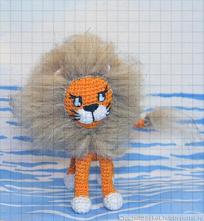 Вязаная игрушка «Львёнок» ручной работы на заказ