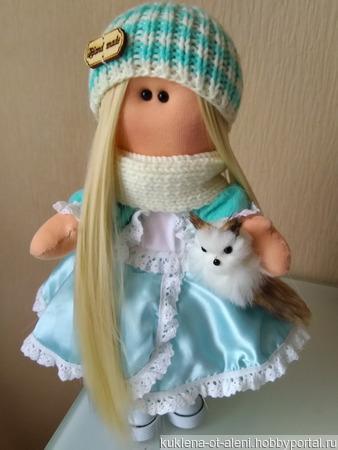 Интерьерная текстильная кукла ручной работы на заказ