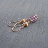 """Серьги """"Lilac & gold"""" из позолоты с аметистами"""