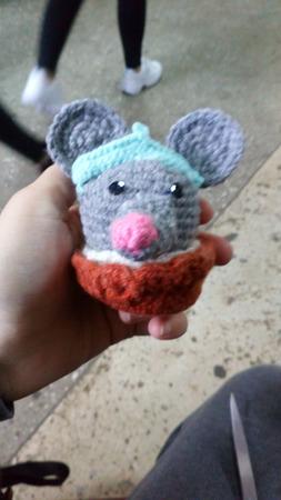 Крыса - снегурочка в корзинке ручной работы на заказ