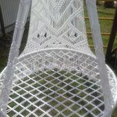 Плетеное кресло-гамак из полиамидной нити