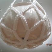 Кашпо подвесное плетеное