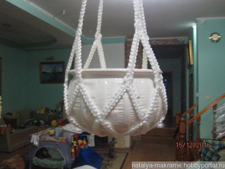 Кашпо подвесное плетеное ручной работы на заказ