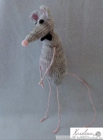 Интерьерная игрушка Крыс ручной работы на заказ