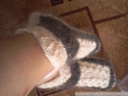 Носочки-следочки из козьего пуха ручной работы на заказ