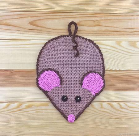 Прихватка мышка вязаная ручной работы на заказ