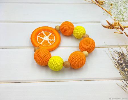 Вязаный грызунок апельсин (лимон) ручной работы на заказ
