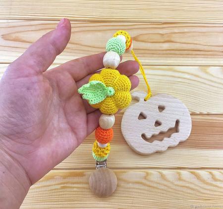 Деревянный вязаный грызунок с держателем ручной работы на заказ