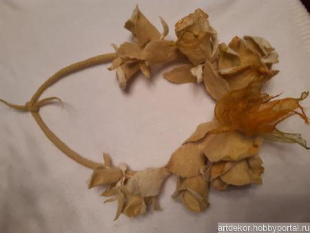"""Колье """"Желтые розы"""" ручной работы на заказ"""