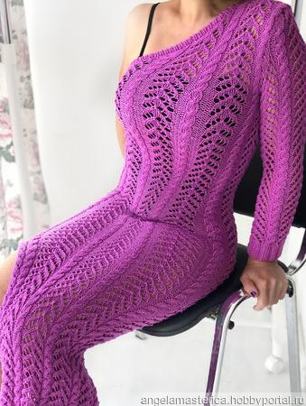 Платье на одно плечо ручной работы на заказ