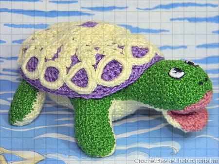 Набор вязаных игрушек «Львёнок и черепаха» ручной работы на заказ