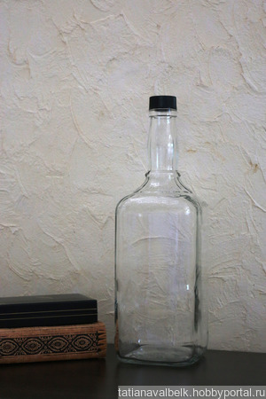 Бутылка стеклянная 3 литра ручной работы на заказ