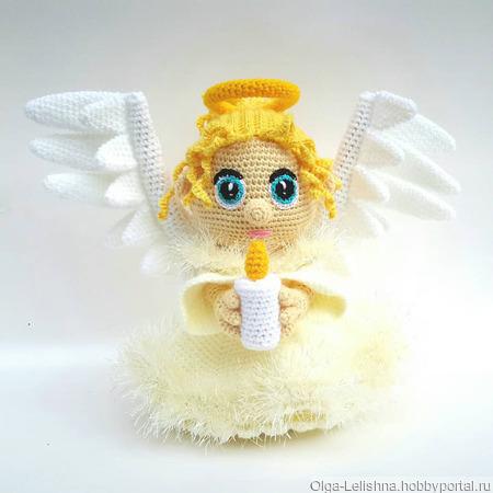 Ангел со свечой ручной работы на заказ