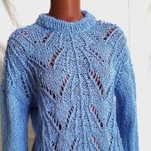 Нежнейший свитер из мохера ажурный