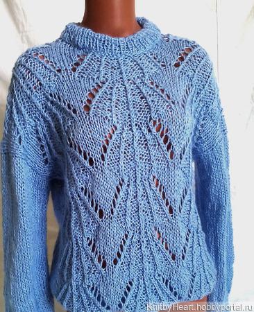 Нежнейший свитер из мохера ажурный ручной работы на заказ