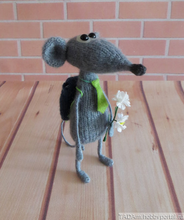 Крысенок первоклассник ручной работы на заказ