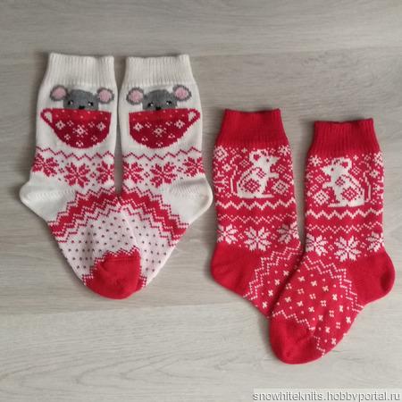 Носки с мышками ручной работы на заказ