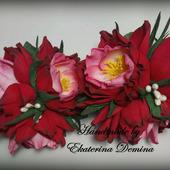 """Резинки """"Красные цветы"""""""