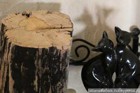 Пень часть ствола дерева с необычным спилом ручной работы на заказ