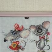 """Картинка """"Влюбленные мышки"""""""
